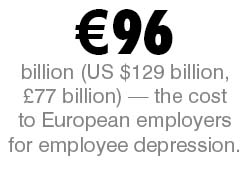 Employer loss to depression